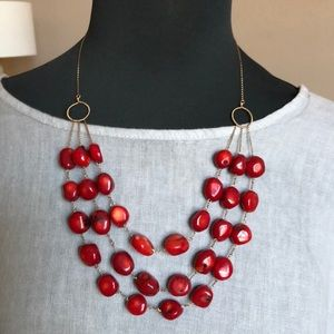 Women's stone necklace